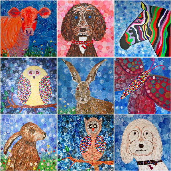A Mixed Pack Of Cards Of Animals By Charron Pugsley Hill