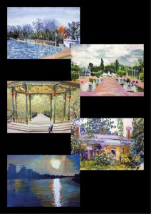 A pack of 5 cards 'Scenes of South London'
