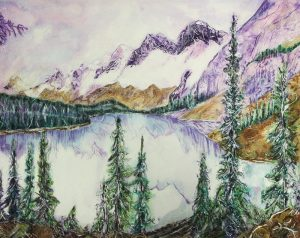 Moraine Lake By Kay Clark