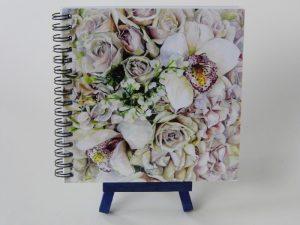 Notebook Orchids 14x14cm