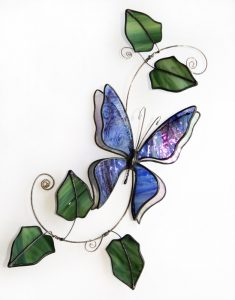 Blue Butterfly withraised wings
