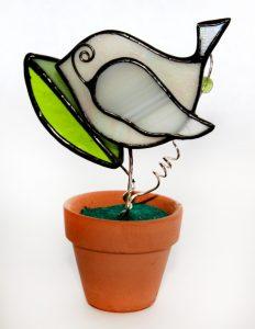 Bird in a flower pot