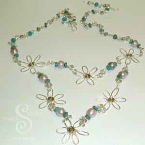 Holiday Sparkle Turquoise Necklace 1