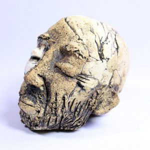 David William Sampson Paper weight head 3 whole
