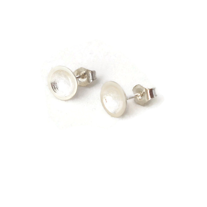 Domed stud sterling silver