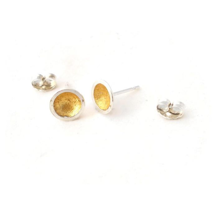 Concave ear studs
