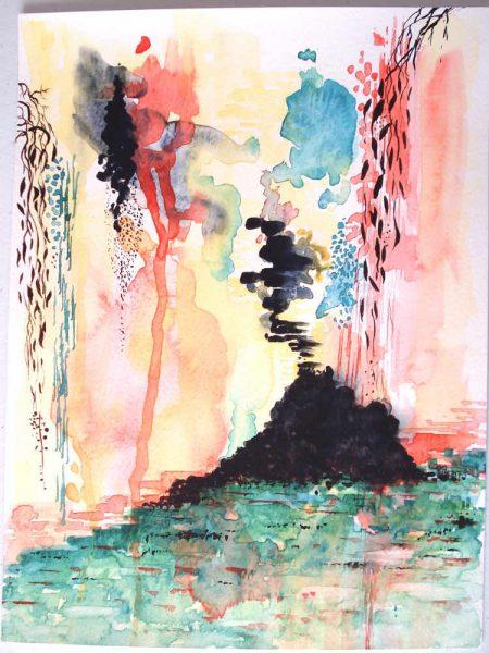 'Eruption' Original Watercolour Painting