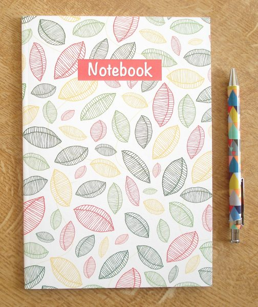 Falling Leaves Patterned Notebook